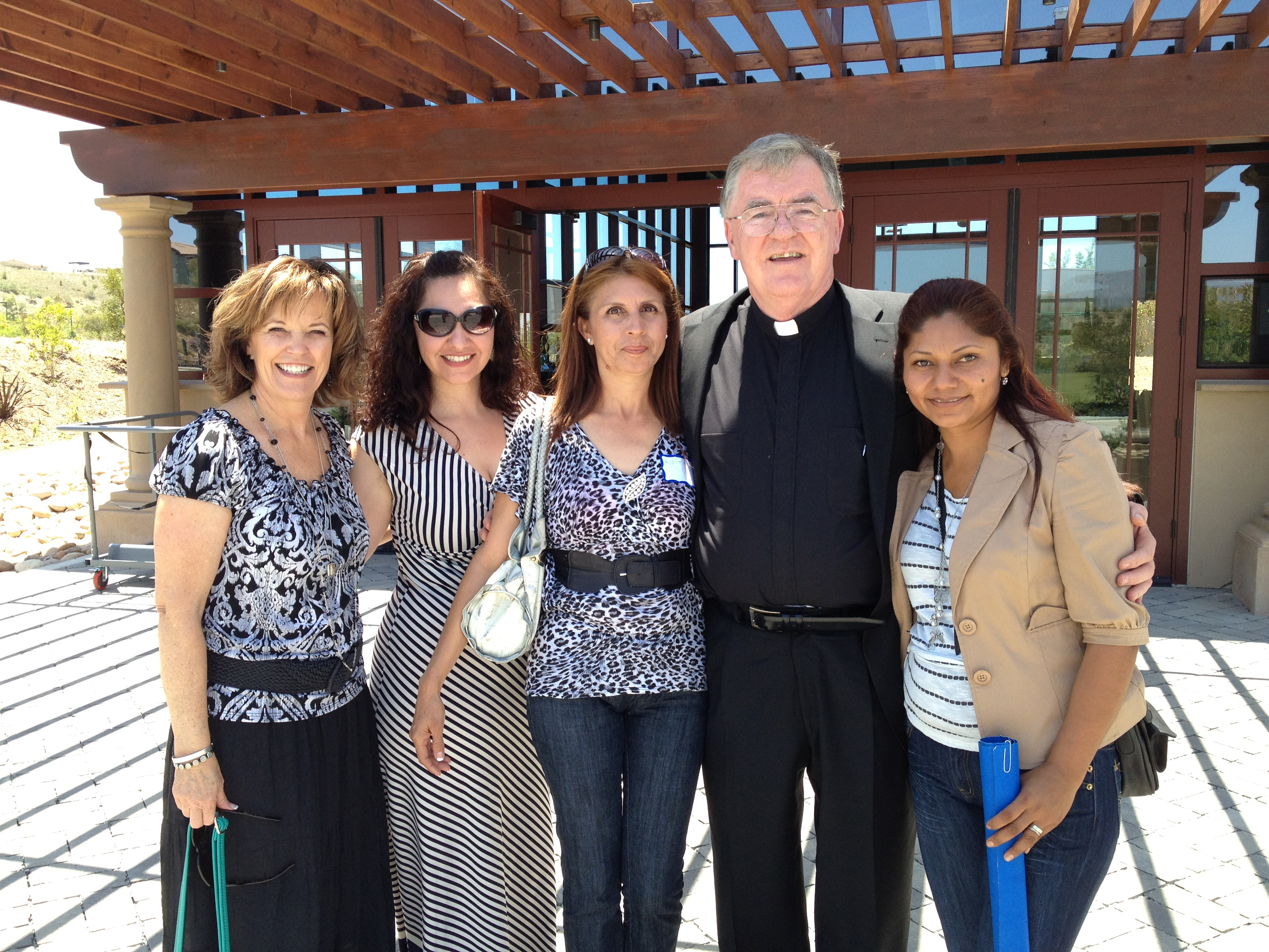 BAM ladies with Fr Nick